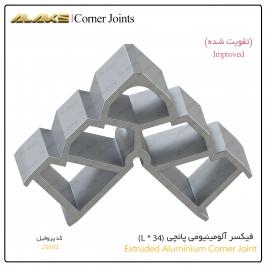 فیکسر آلومینیومی پانچی تقویتی (L x 34)  از پروفیل 21691